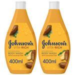 JOHNSON'S VITA-RICH BODY WASH COCO BUTTER 400ML TWIN 25%OFF