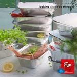 Fun® Indispensable Aluminium Containers with Lids 420CC - Pack of 10 X 10