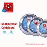 Fun® Indispensable Black Round Food Container set with lid 24oz (5 Pcs) X 2