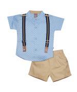 Little Kangaroos Baby Boy 3pc Set , Blue/Khaki - ROGS2019037A