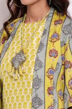 Biba Women Cotton Straight 3 Piece Set,Lime Green,BG1153LGRN
