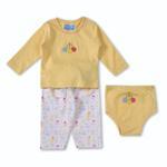 Smart Baby Baby Boys 3-Piece Set,Yellow-BIGCB215DGJY