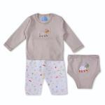 Smart Baby Baby Boys 3-Piece Set,Light Beige-BIGCB216DGJLB
