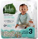 Seventh Generation Free & Clear Baby Diapers,Size 3-MMGL44062