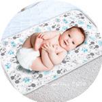 Disney Mickey Mouse Baby Bath Mat-White/Blue,TCGLTRHA7690