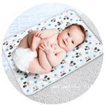 Disney Mickey Mouse Baby Bath Mat-White/Blue,TCGLTRHA7687