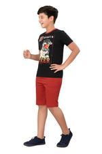 Genius Boys T-shirt With Bermuda Set,Black/Rust,SIMGS20GBC048