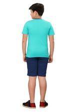 Genius Boys T-shirt With Bermuda Set,Sea Green/Navy ,SIMGS20GBC062