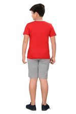 Genius Boys T-shirt With Bermuda Set,Red/Grey,SIMGS20GBC064
