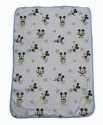 Disney Mickey Mouse Baby Printed Mink Blanket,White/Blue,TCGLTRHA1119