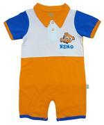 Disney Baby Nemo Baby Boys Shortleg Bodysuit, Orange/White-NCGDBIBCPR8E