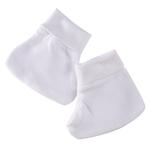 Smart Baby Organic Cotton Unisex Booties , White - TIGBBOCW