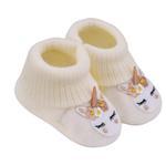 Smart Baby Baby Girl Booties ,Ecru-TIGSS2035002E