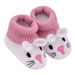 Smart Baby Baby Girl Booties ,Dark Pink-TIGS2035001DP