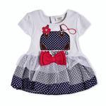 Wonderchild Baby Girls Dress,Grey/Navy-WCG1719852