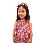 Flower Girl Girls Dress With Hair Band,Purple-KOG640B