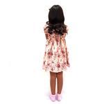 Flower Girl Girls Dress With Hair Band,Beige-KOG643A