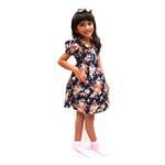 Flower Girl Girls Dress With Hair Band,Navy-KOG643B