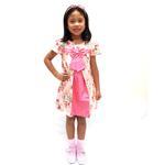 Flower Girl Girls Dress With Hair Band,Light Peach-KOG645A