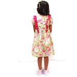 Flower Girl Girls Dress With Hair Band,Light Yellow/Pink-KOG648A