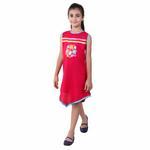 Flower Girl Girls Solid Dress, Fuchsia-KFG1229