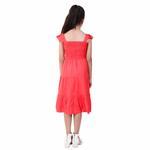 Flower Girl Girls Solid Dress, Red-KFG1240