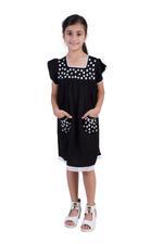 Flower Girl Girls Solid Dress, Black-KFG1214