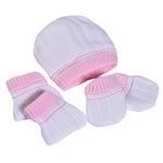 Smart Baby Baby Girls Boxed Gift Set, White/Pink-TIG8998G