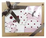Wonderchild Baby Girls 6 pcs Gift Set, Light purple/Maroon,WCGS205095