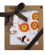 Wonderchild Baby Boy 4 pcs Gift Set, White/Orange-WCG00775