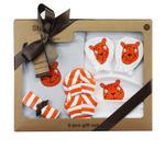 Wonderchild Baby Boy 6 pcs Gift Set, White/Orange-WCG00781