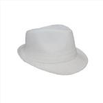Genius Boys Fedora Hat,White