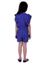 Flower Girl Girls Printed Jumpsuit, Navy-KFG1333