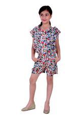 Flower Girl Girls Printed Jumpsuit, Multi-KFG1335
