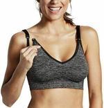 Bravado Designs Body Silk Seamless Nursing Bra,Charcoal-MMGL143601