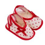 Smart Baby Baby Girl Shoes ,Beige/Red-TIGSS2036AWR