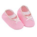 Smart Baby Baby Girl Shoes ,Ecru/Pink-TIGSS2063RPE