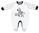 Smart Baby Baby Boys Sleepsuit With Footies, White-NCGSBISU199