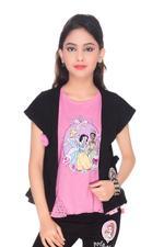 Disney Princess Girls Knit Top, Pink-HWGL1P60