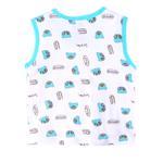 Smart Baby Baby Boys Sleeveless Printed Vest,White/Blue-SIMG43001STP