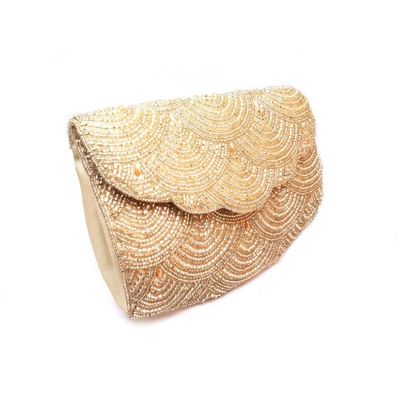 Golden Sequinned Sling bag