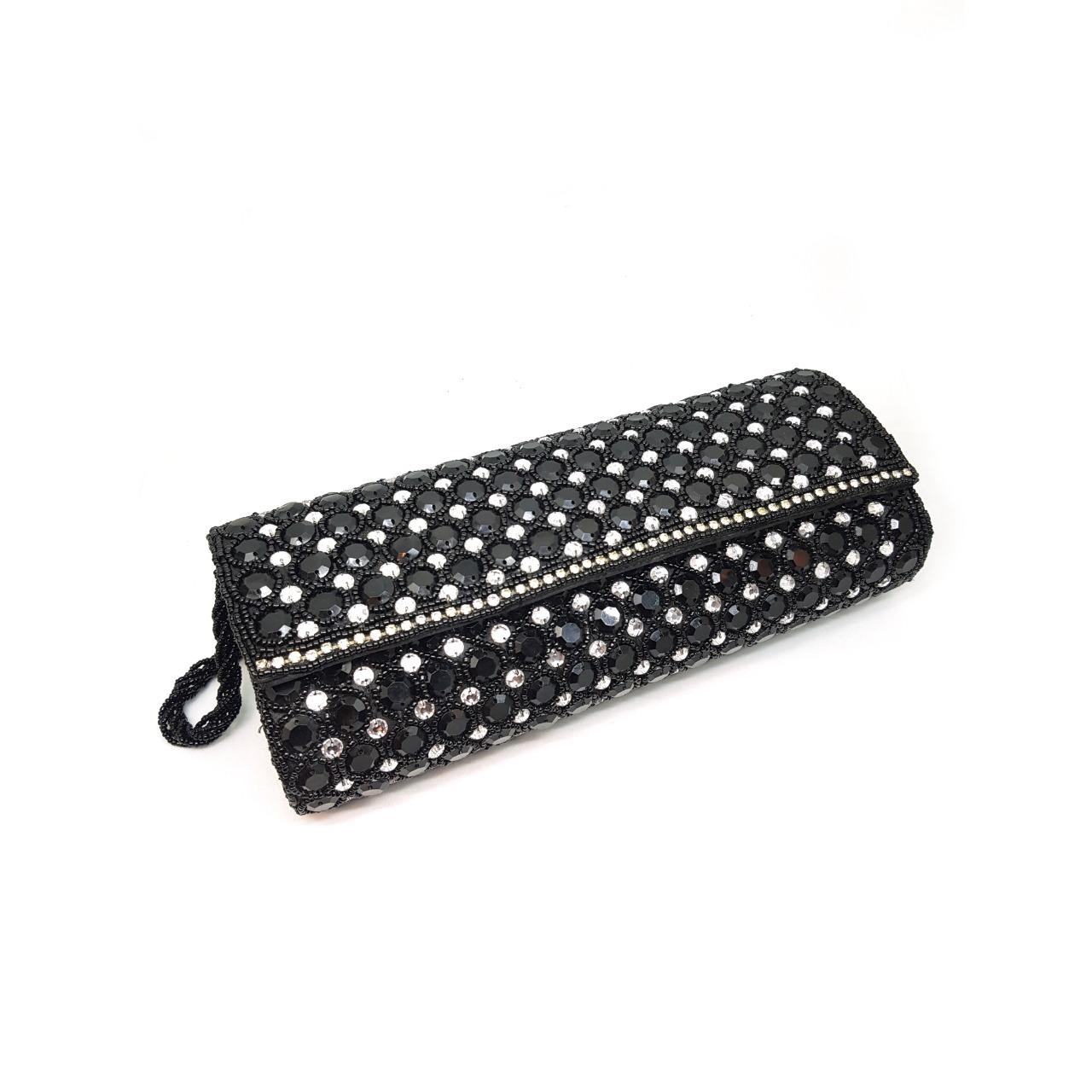 Black Party Essential Clutch With A Sling