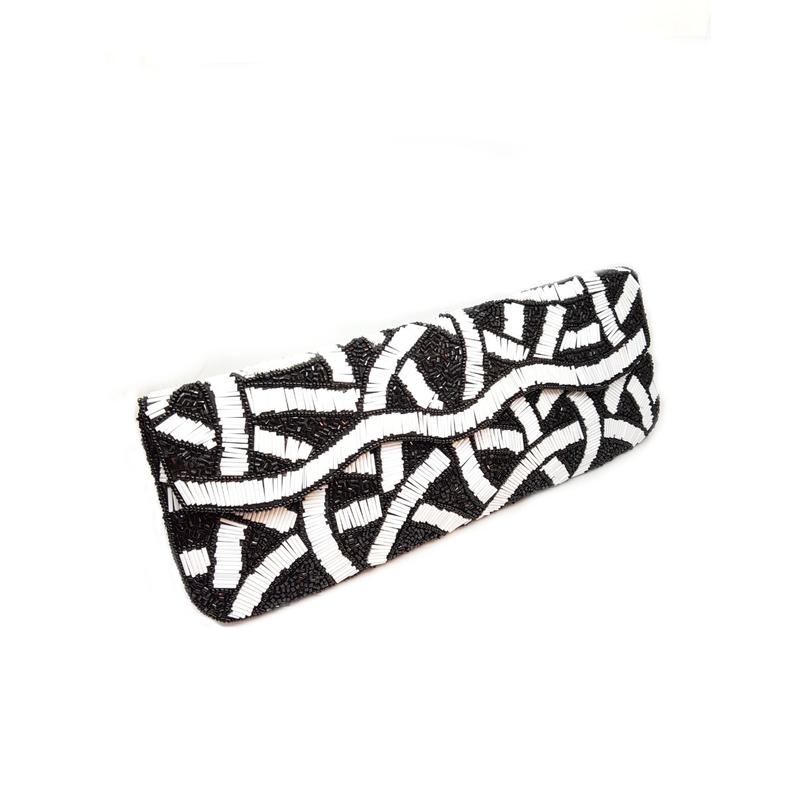 Monochrome Black & White Party Handbag