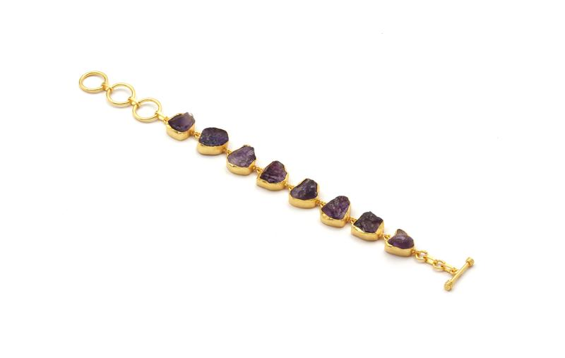 SP Stone link chain bracelet
