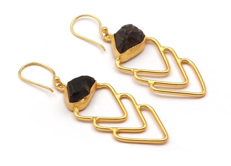 Triple Arrow Head Earring