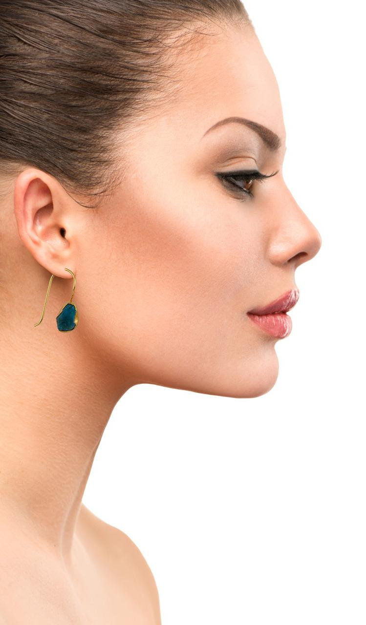 Single Stone Hook Earring