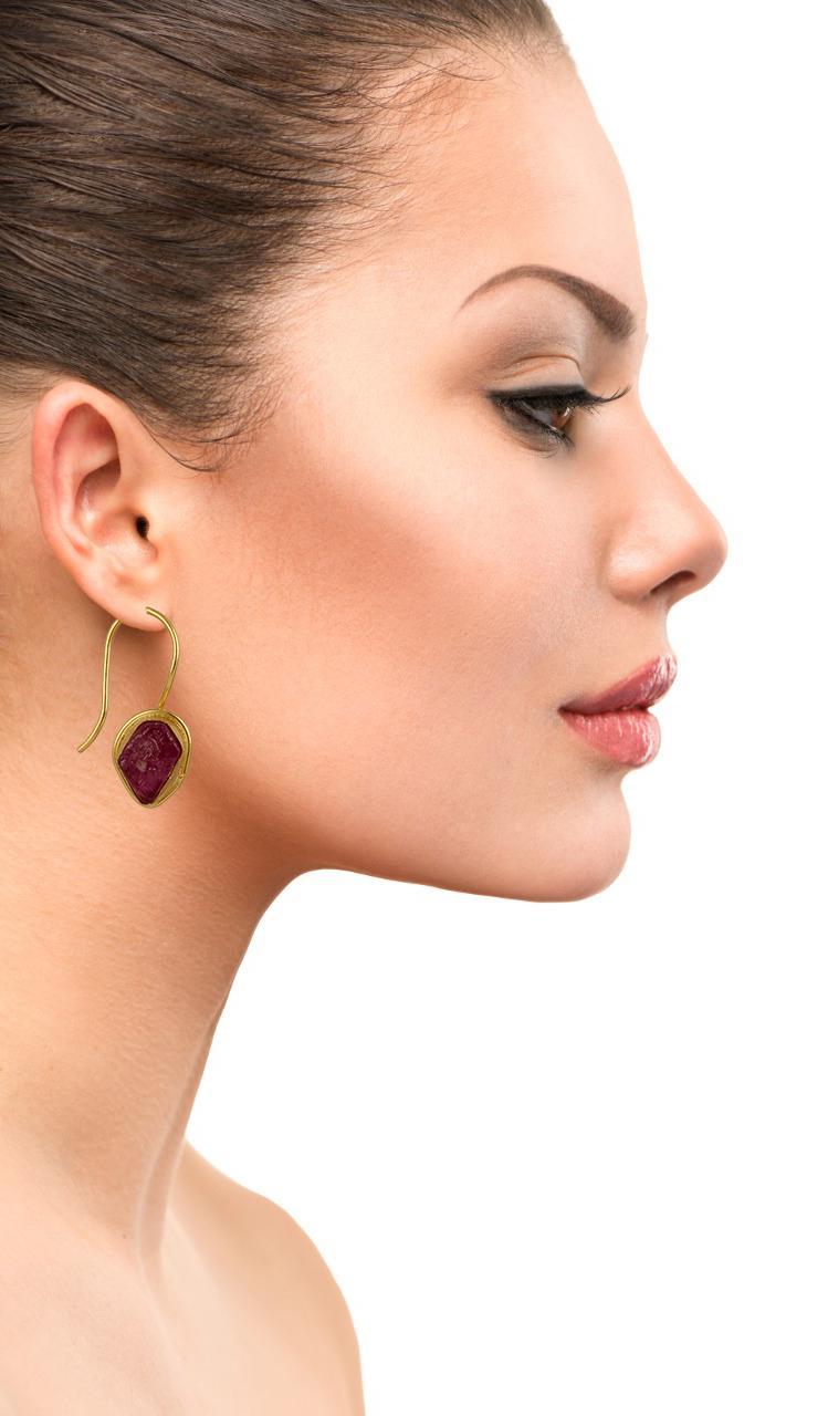 Single Stone Hook Earring