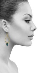 Drop Shaped Single Stone Earring