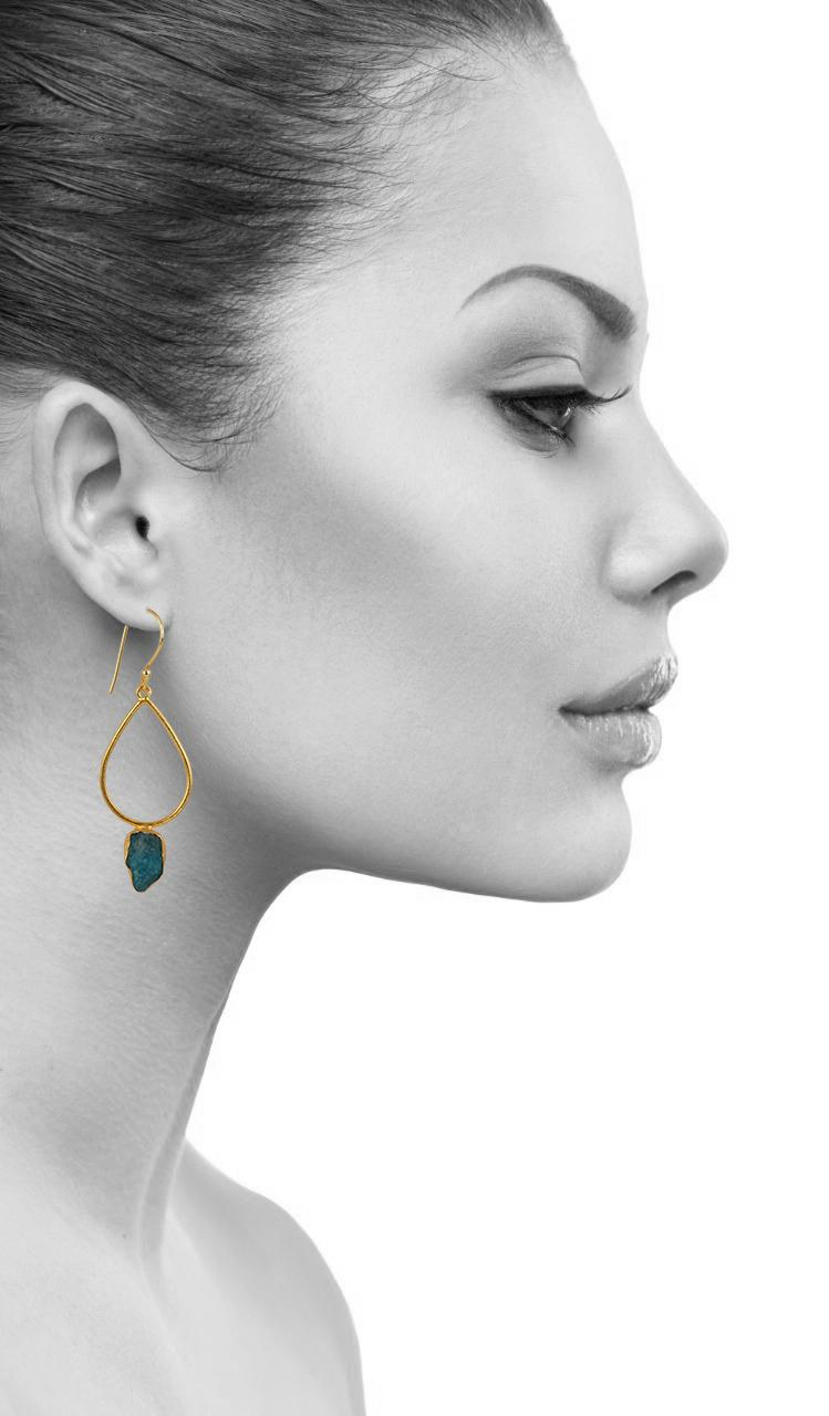 Drop Shaped Single Stone Earring