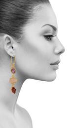 Three Mixed Stone Earring